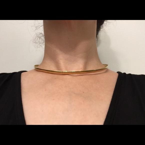 Vintage Jewelry - Vintage goldtone choker